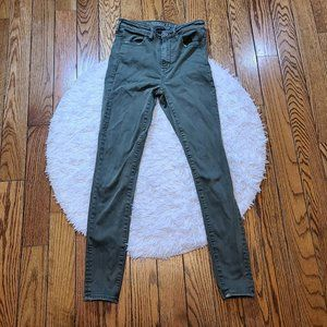 American Eagle Super Stretch Green Hi Rise Jegging